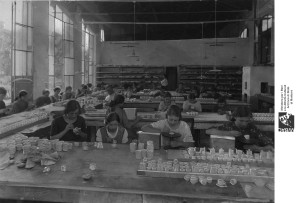 Camera Comm II serie, b 636-1, ditta Furga, 1924, lavoratrici ceramica