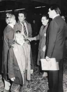 Albano visita la Ditta Furga. Primi anni'80 del'900