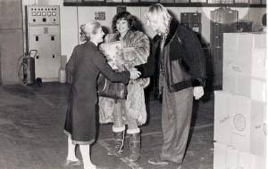 Carmen Russo visita la Ditta Furga. Primi anni'80 del'900