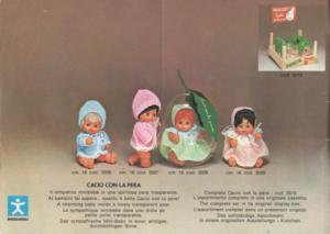 cacio con la pera - catalogo 1973